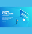 digital marketing concept outbound marketing vector image vector image