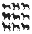 Dog Silhouettes EPS 8 grouped for easy vector image vector image