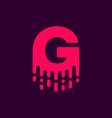 dripping logo letter g vector image