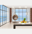 eco-minimalist living room vector image