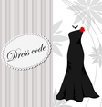 Elegant dress background vector image vector image
