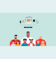 fathers day web page template diverse dad family vector image vector image