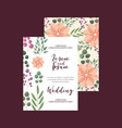 flowers decoration floral wedding card greeting vector image vector image