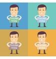 Friendly cartoon businessman vector image