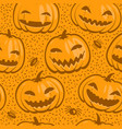 halloween seamless background decorative pattern vector image