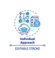 individual approach concept icon