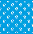 insurance home pattern seamless blue vector image