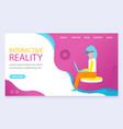 interactive or virtual reality life simulator vector image