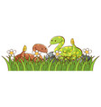 isolated picture two snakes in garden vector image vector image