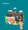 kanban concept flat style design vector image vector image