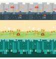 landscape cartoon seamless backgrounds vector image