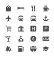 map and location glyph icons vector image vector image