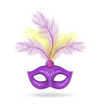 mardi gras mask icon realistic 3d style mask vector image vector image