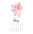 may 2019 year calendar page vector image vector image