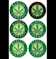 Medical Cannabis Leaf Design Stamps vector image vector image