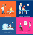 medical treatment and healthcare posters vector image vector image