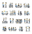 Meeting Icons Flat Set vector image vector image