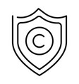 monochrome copyright protection icon vector image vector image
