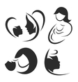 Mother and child icon or logo set vector image vector image