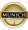 munich gold label vector image vector image
