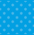 ninja shuriken star weapon pattern seamless blue vector image vector image
