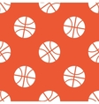 Orange basketball pattern vector image vector image