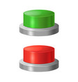 realistic detailed 3d red and green buttons vector image