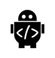 robot code icon icon simple element robot code vector image