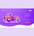 sales pipeline management landing page template vector image vector image