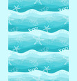 seamless pattern with cute fish and sea background vector image