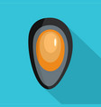 shell with pearl icon flat style vector image
