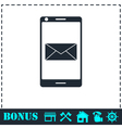 Smartphone email or sms icon flat