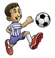 soccer player playing the ball vector image vector image
