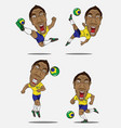 soccer players collection design vector image vector image
