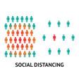 social distancing concept for prevention corona vector image