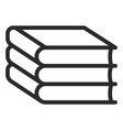 stack books icon literature and education vector image