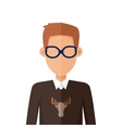 Stylish Young Man in Glasses Avatar or Userpic vector image vector image