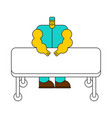 surgeon and operating table doctor at work vector image