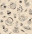 Tea background vector image vector image