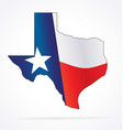texas tx state map with waving flag vector image vector image