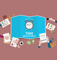 time to management concept with business man team vector image