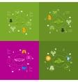 veterinary sticker infographic vector image