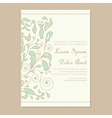 wedding invitation card with floral element vector image vector image