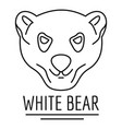 white bears logo outline style vector image vector image