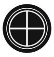white round window icon simple vector image vector image