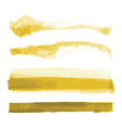 yellow gold watercolor shapes splotches stains vector image vector image