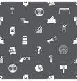 election simple icons seamless gray pattern eps10 vector image