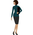 a woman in a office vector image vector image