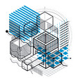 abstract isometrics background 3d layout vector image vector image