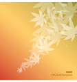 Abstract leaves composition Fall season background vector image